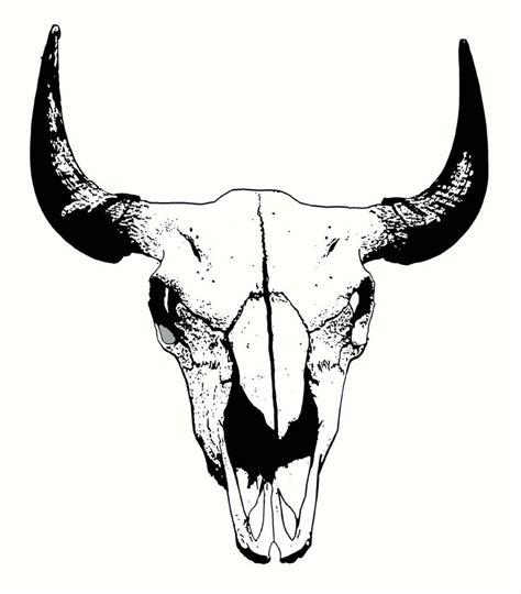 buffalo skull digital sketch tattoos pinterest
