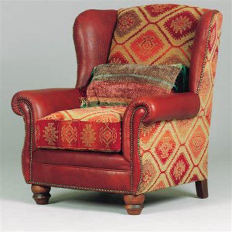 fauteuil anglais en tissu fauteuil anglais eastwood cuir buffle et tissus longfield 1880