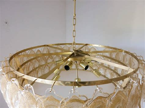 Gold Drum Chandelier Murano Gold Clouds Drum Chandelier By Mazzega For Sale At 1stdibs