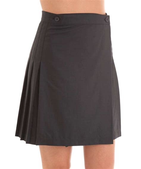 american apparel pleated skirt in charcoal