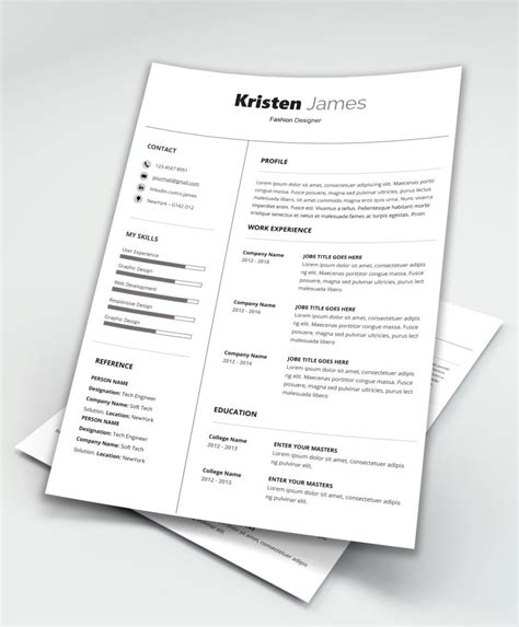 Simple Professional Resume Template by Race Simple Professional Resume Template Maxresumes