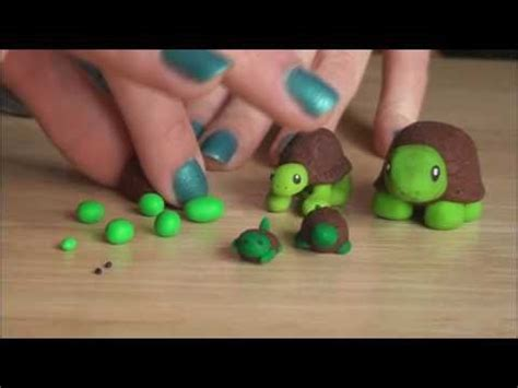 how to make a turtle out of diy polymer clay turtle socraftastic