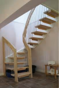 Simple Stairs Design Simple Design Ideas Of Small Space Staircase With Brown Wooden Treads And Handrails Also Silver