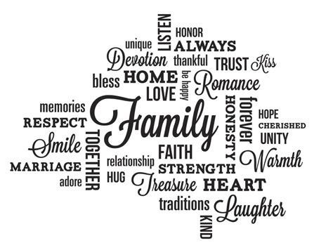 Wall Sayings Stickers quote importance of family family quotes that perfectly