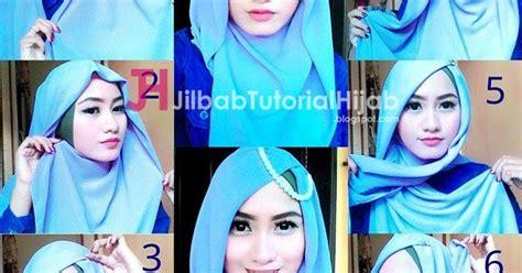 Jilbab Segi Empat Transparan 5 Tutorial Segi Empat Simple Tapi Mewah Dan