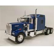 NewRay 132 Scale Kenworth W900 Diecast Model Trailer Truck Cab Blue