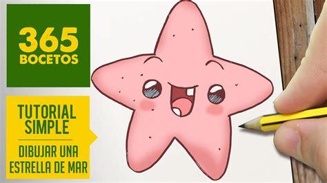 imagenes de estrellas kawaii como dibujar una estrella de mar kawaii paso a paso