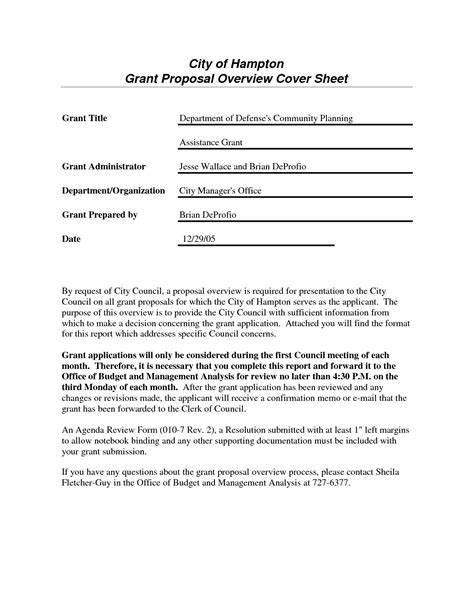 Grant Cover Letter Template Sles Letter Cover Templates Grant Application Template