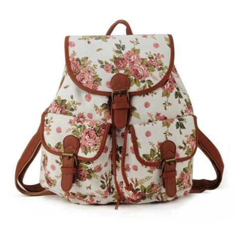 school fashion pink floral backpack on luulla