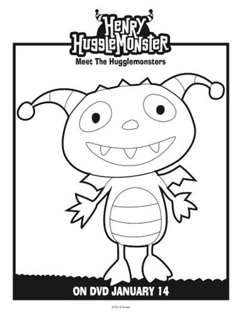 henry hugglemonster coloring page printable coloring