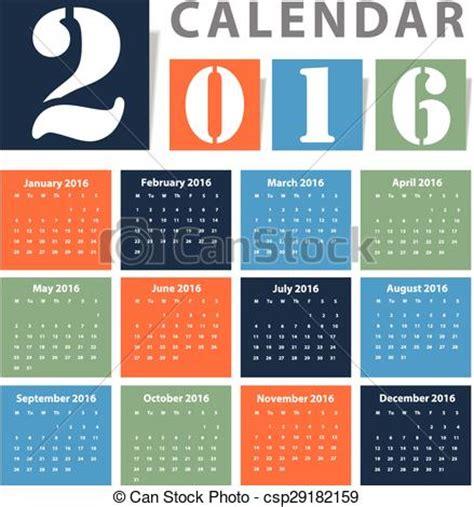 english calendar 2016 design stock vector image 61777684 clipart vector of calendar 2016 vector design csp29182159