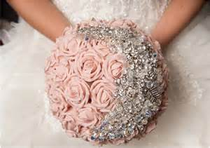 18 stunning bejeweled bridal bouquets to steal your heart modwedding