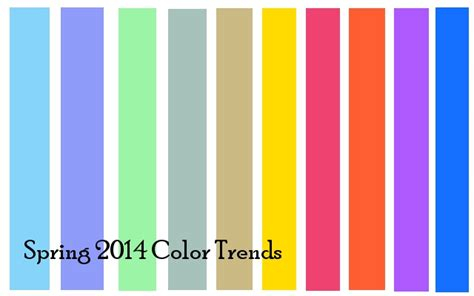 sping colors 2014 color fashion trends what colors suit you