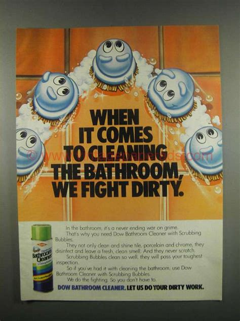 dow bathroom cleaner 1984 dow bathroom cleaner ad we fight dirty