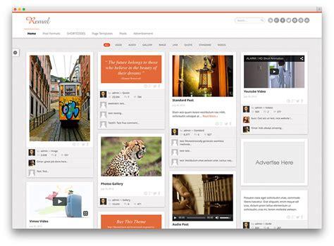 blog theme pinterest 12 temas wordpress al estilo pinterest para portfolios