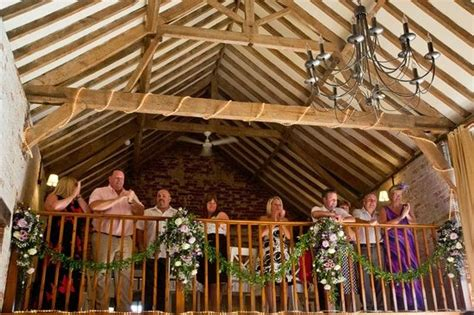 The Dairy Barns Hickling Wedding Ceremony In The Barn Balcony Amp Flowers Picture