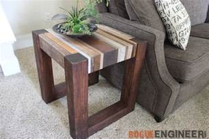 scrap wood side table free diy tutorial rogue engineer