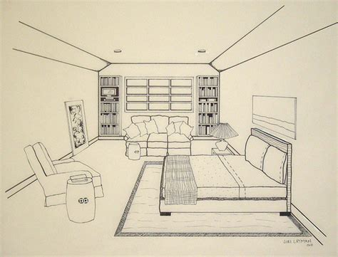 bedroom perspective drawing how to draw bedroom perspective