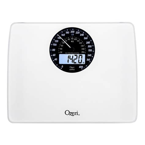 ozeri bathroom scale ozeri rev digital bathroom scale with electro mechanical weight dial zb23 w the home
