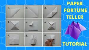 How To Make A Paper Fortune Teller - how to make a fortune teller