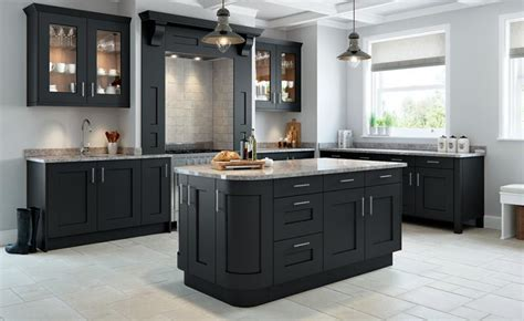 Microwave Kitchen Cabinet Rivington Bespoke Painted Kitchen In Slate Grey