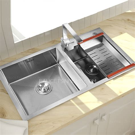 kitchen sinks with faucets sinks stainless steel nickel brushed kitchen sinks