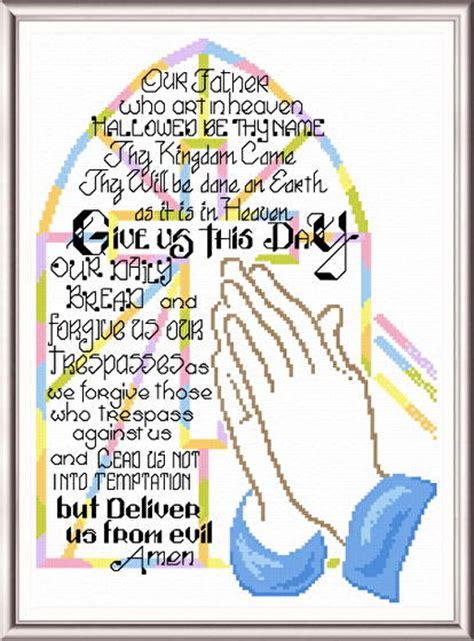 kingdom pattern for prayer praying hands cross stitch pattern religious