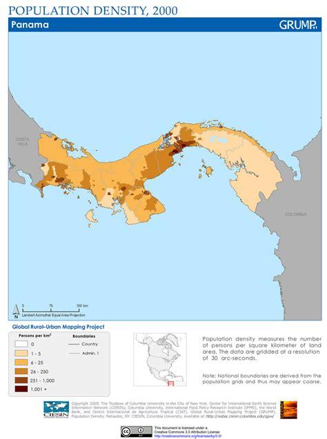 costa rica population density map panama population density 2000 population density