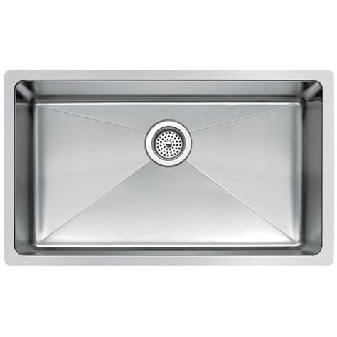 Kitchen Sink Small Water Creation Undermount Small Radius Stainless Steel 30x18x9 0 Single Bowl Kitchen Sink