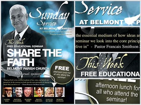 share the faith christian flyer template flyerheroes