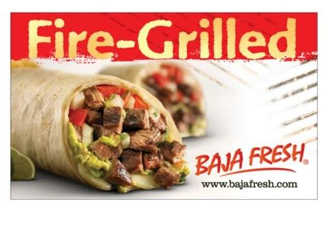 Cheap Restaurant Gift Cards - baja fresh restaurant discount gift card
