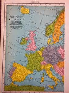 popular map of europe by rand mcnally