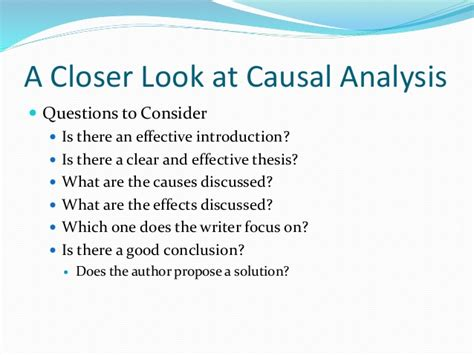 Free Causal Analysis Essay by Causal Analysis Thesis Statement Mfacourses719 Web Fc2