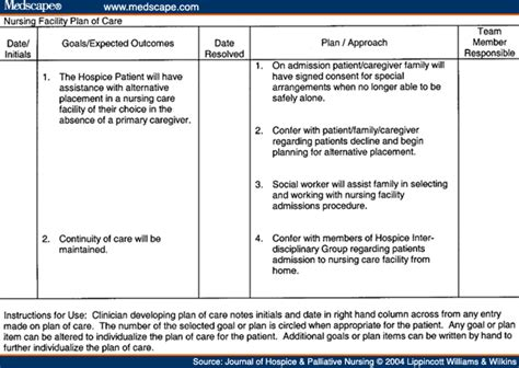 Hospice Care Planning An Interdisciplinary Roadmap Hospice Care Plan Template