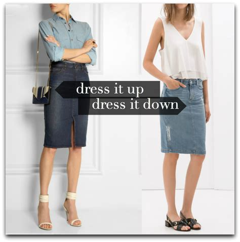what to wear spotlight week the denim pencil skirt