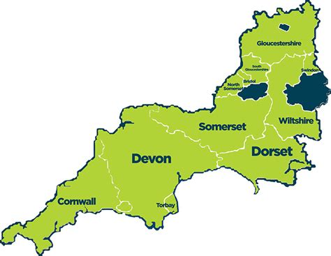 south and west from south west england