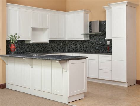 brilliant white shaker ready to assemble kitchen cabinets