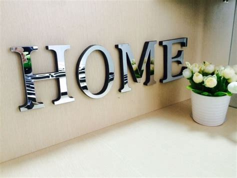 Home Letters Decoration 10cmx8cmx1 2cm Thick Wedding Letters Home Decoration 3d Mirror Wall Stickers