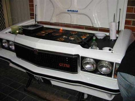custom backyard bbq grills custom barbeque grill outdoor from classic holden monaro gts burgers and steaks