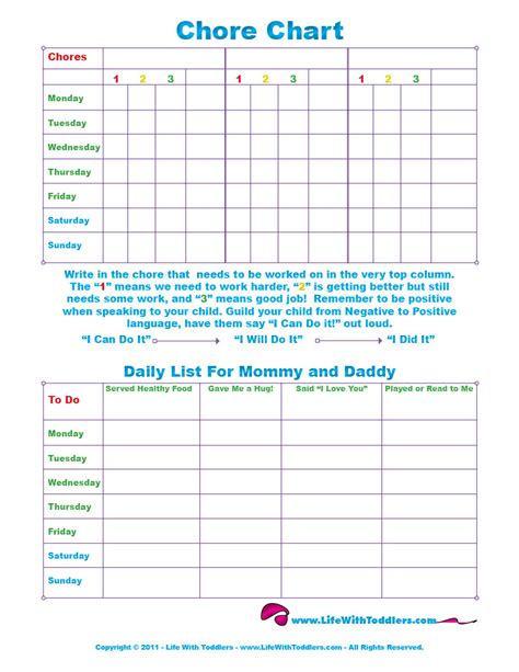 6 best images of 5 year old chore chart 3 year old chore 6 best images of 5 year old chore chart 3 year old chore