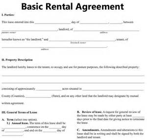 Rental agreement 9 free documents in pdf word on basic rental lease