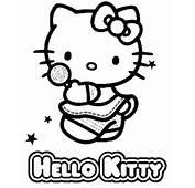Tanti Altri Disegni Da Colorare Di Hello Kitty Gratis  Clicca Qui