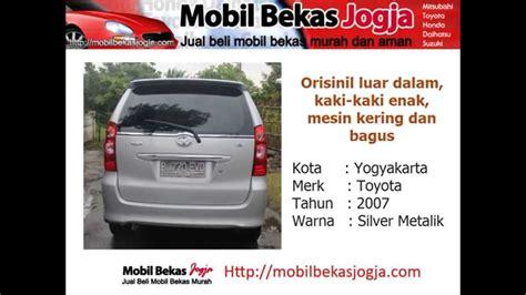 Tv Mobil Murah Yogyakarta jual murah toyota avanza tahun 2007 mobil bekas jogja