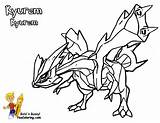 Kyurem Pokemon Black White Coloring Page