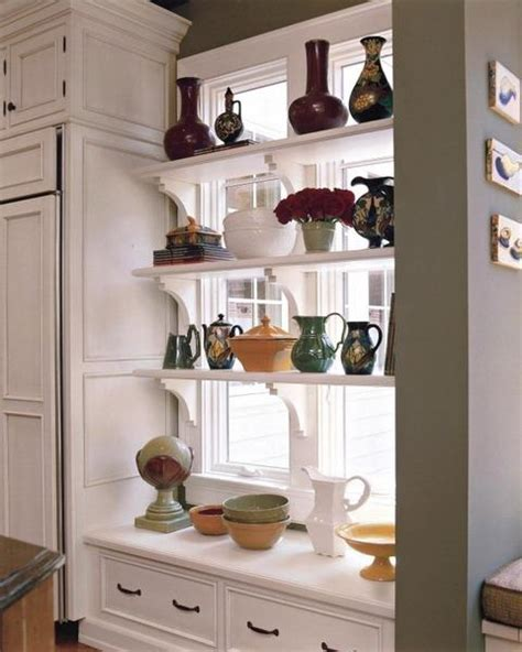 kitchen window shelf ideas 25 creative window decorating ideas with open shelves