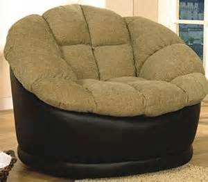 Causal fabric round swivel oversized chair discount shop home