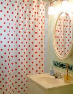 Red polka dot shower curtain reanimators