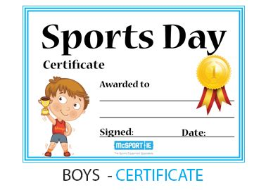 sports day certificate template sports day primary schools mcsport ireland