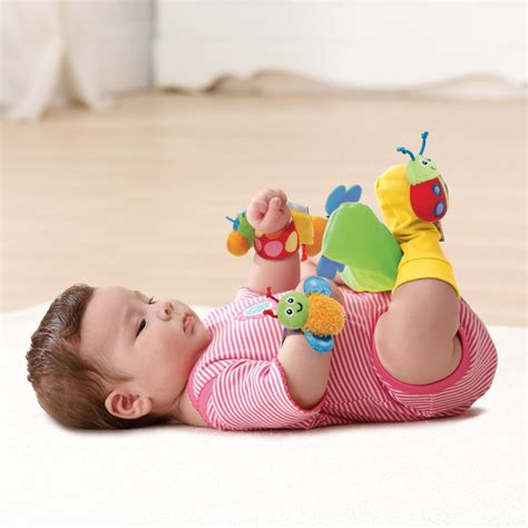 Crib Toys For Babies by Lamaze Wrist Rattle And Footfinder Set Newborn Baby