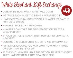 Below are the white elephant printable numbers the pdf file includes